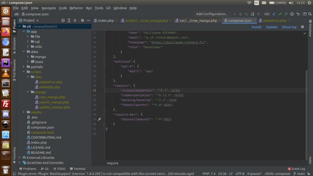 Architecture de mon projet PHP-CLI